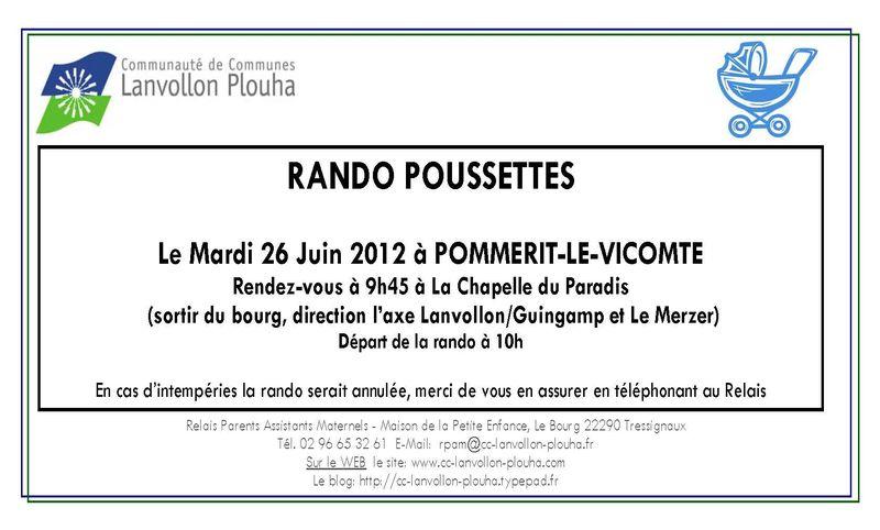 Rando-poussette 26 JUIN 2012